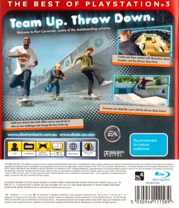 Skate 3 PS3 backMB (BLES00760)