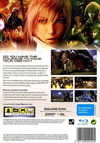 Final Fantasy XIII PS3 backMB (BLES00783)