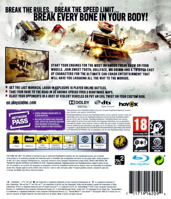 Twisted Metal PS3 backMB (BCES01010)