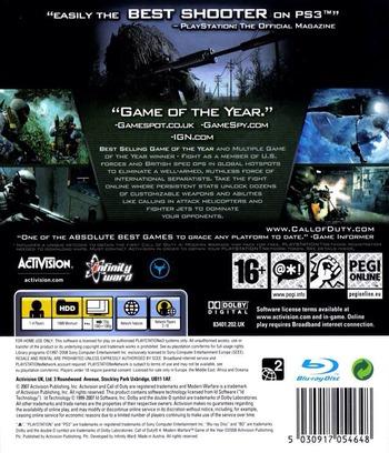 Call of Duty 4: Modern Warfare PS3 backMB (BLES00156)