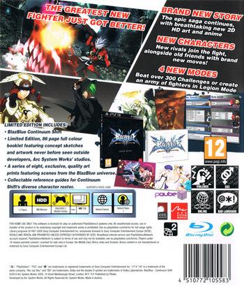 BlazBlue:Continuum Shift PS3 backMB (BLES01119)