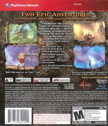 God of War Collection Array backMB (BCUS98229)