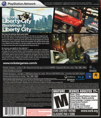 Grand Theft Auto IV PS3 backMB (BLUS30127)