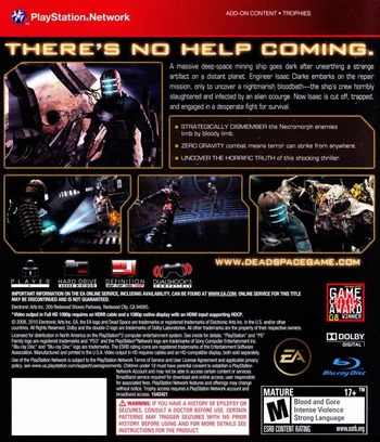 Dead Space PS3 backMB (BLUS30177)