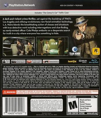 L.A. Noire PS3 backMB (BLUS30554)