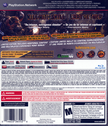Bulletstorm PS3 backMB (BLUS30651)