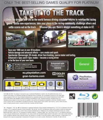 Gran Turismo 5 PS3 backMB2 (BCES00569)