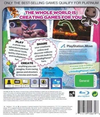 LittleBigPlanet 2 PS3 backMB2 (BCES00850)