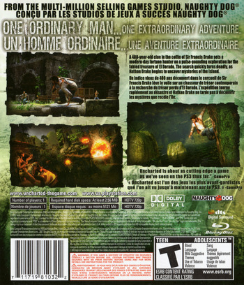 Uncharted: Drake's Fortune PS3 backMB2 (BCUS98103)