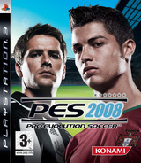 Pro Evolution Soccer 2008 PS3 cover (BLES00100)