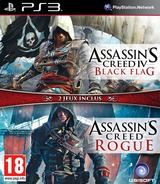 Assassin's Creed IV : Black Flag + Rogue pochette PS3 (BLES02204)