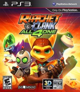 Ratchet & Clank: All 4 One PS3 cover (BCUS98175)