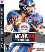 NCAA Football '08 PS3 cover (BLUS30039)