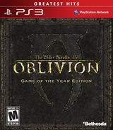 The Elder Scrolls IV: Oblivion (Game of the Year Edition) PS3 cover (BLUS30087)