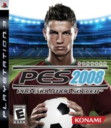 Pro Evolution Soccer 2008 PS3 cover (BLUS30111)