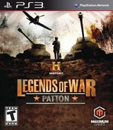 Legends Of War Patton PS3 cover (BLUS31079)