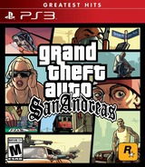 Grand Theft Auto: San Andreas PS3 cover (BLUS31584)