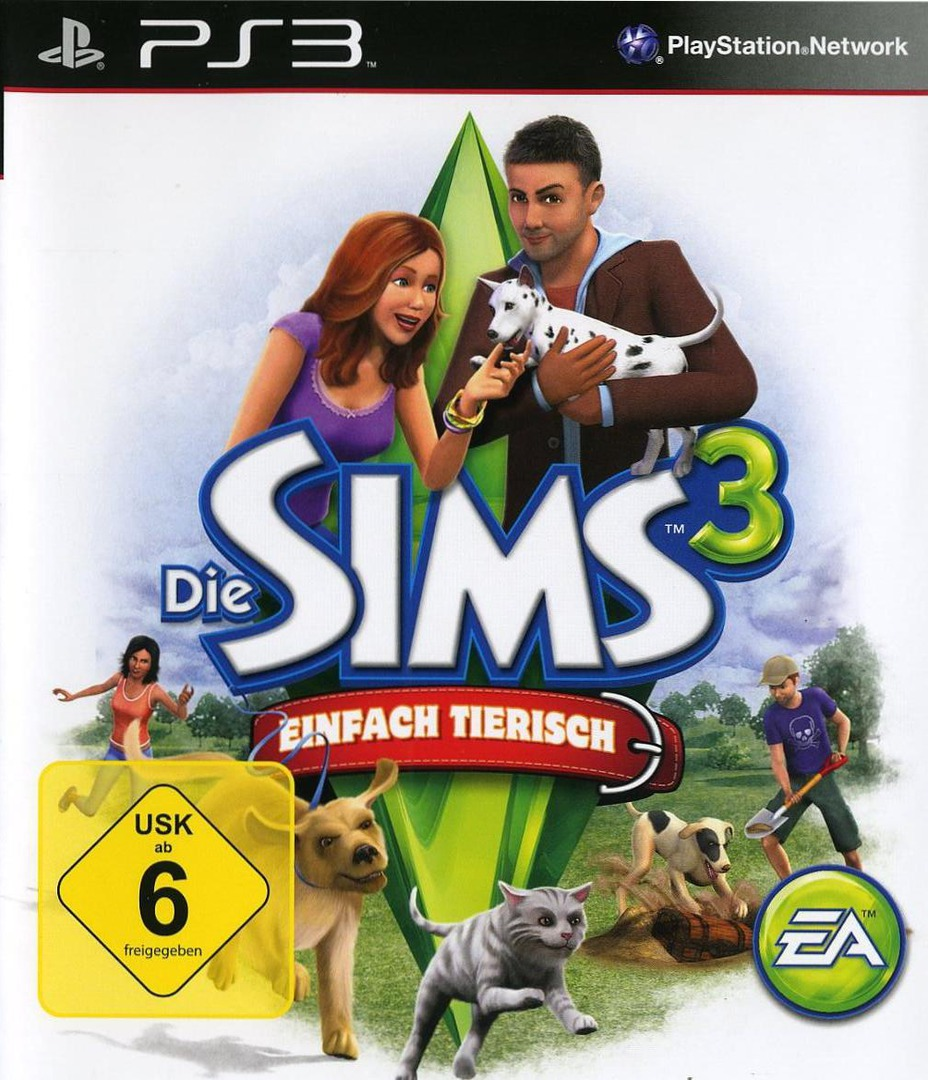 The Sims 3: Einfach Tierisch PS3 coverHQ (BLES01368)