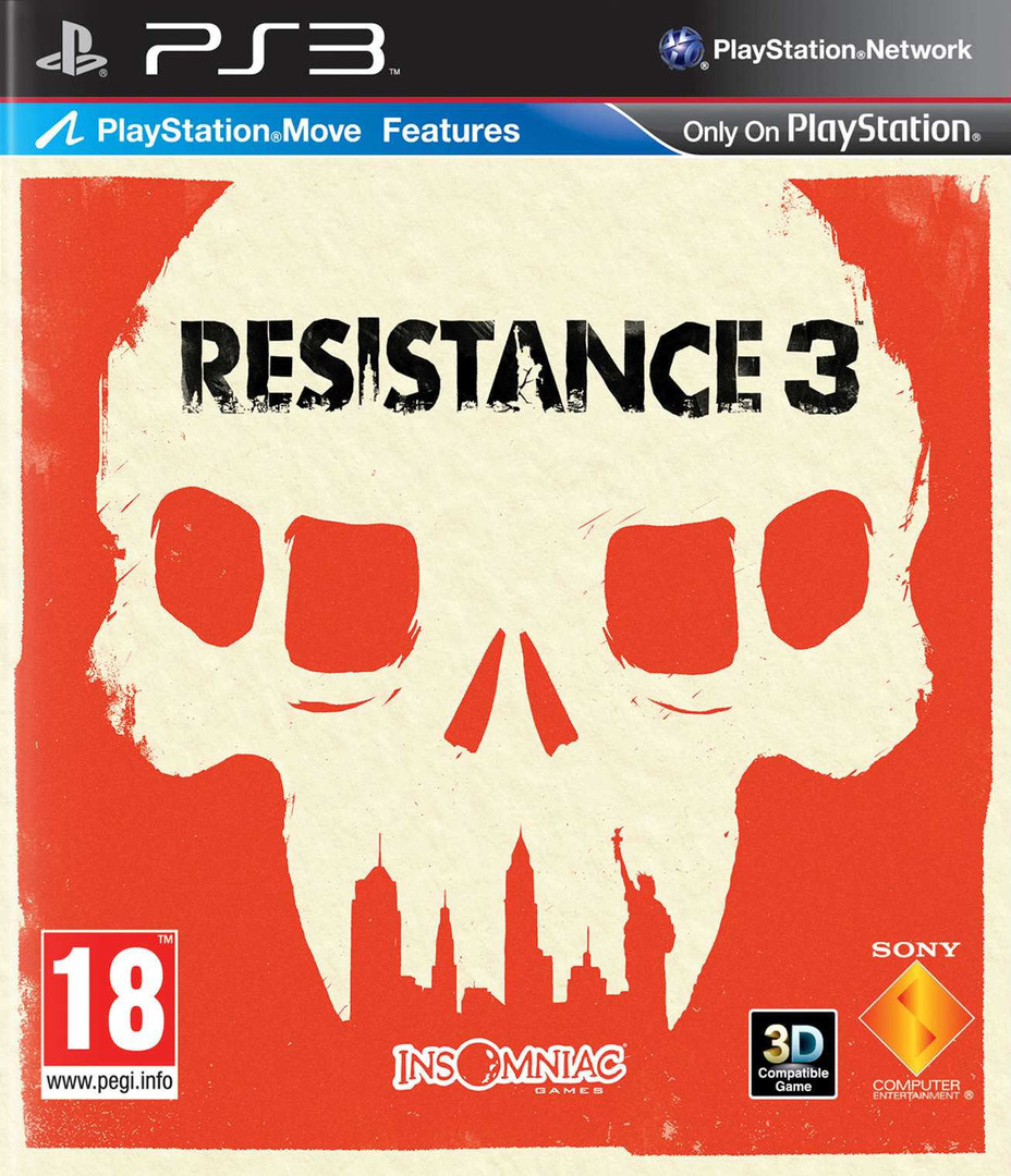 Resistance 3 PS3 coverHQ (BCES01118)