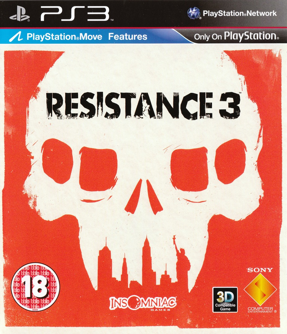 Resistance 3 PS3 coverHQ (BCES01353)