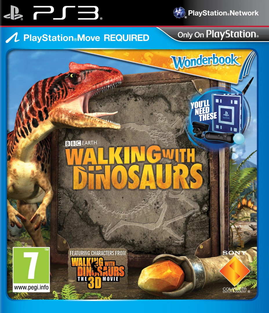 Wonderbook: Walking with Dinosaurs PS3 coverHQ (BCES01806)