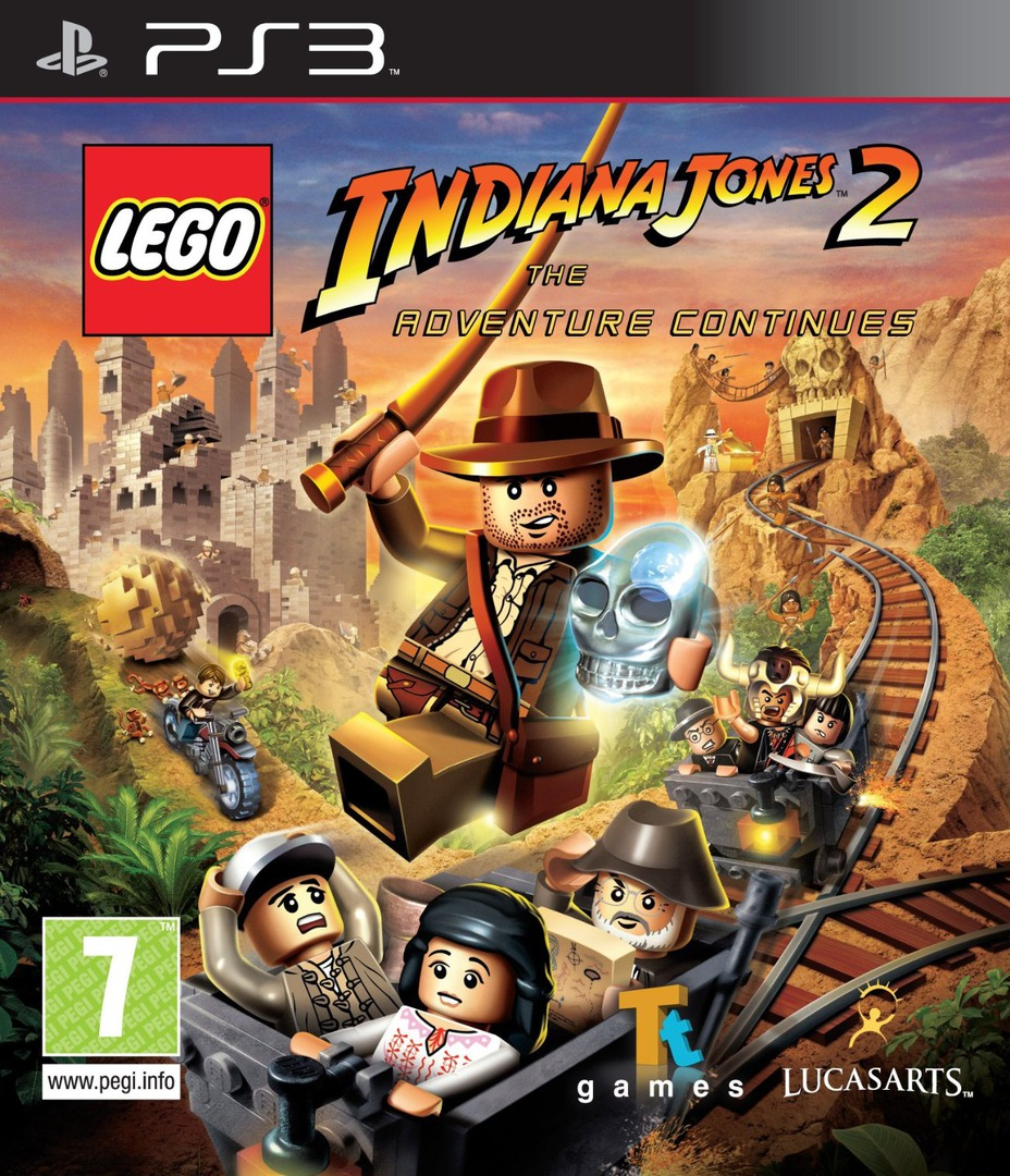LEGO Indiana Jones 2: The Adventure Continues PS3 coverHQ (BLES00763)