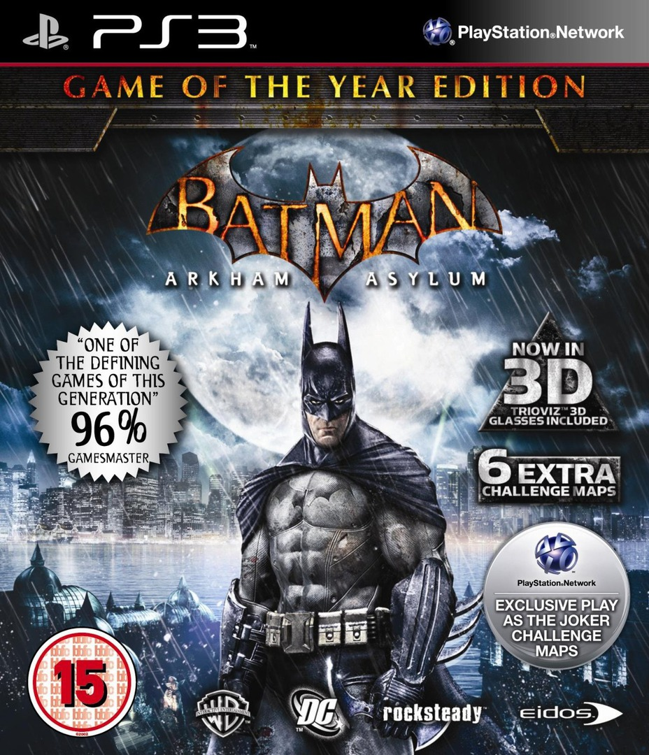 Batman: Arkham Asylum (Game of the Year Edition) PS3 coverHQ (BLES00827)