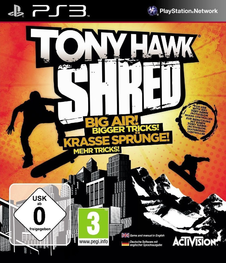 Tony Hawk: Shred PS3 coverHQ (BLES01002)