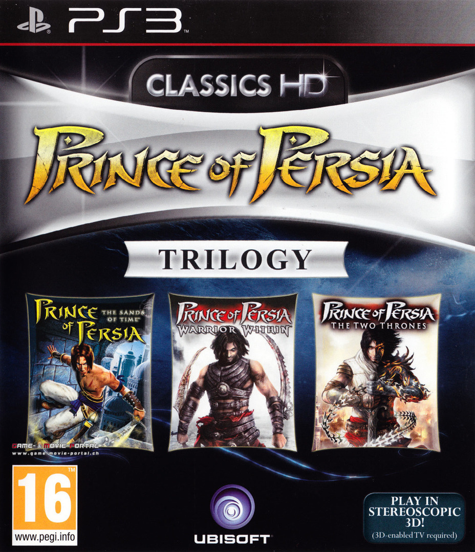 Prince of Persia Trilogy 3D PS3 coverHQ (BLES01092)