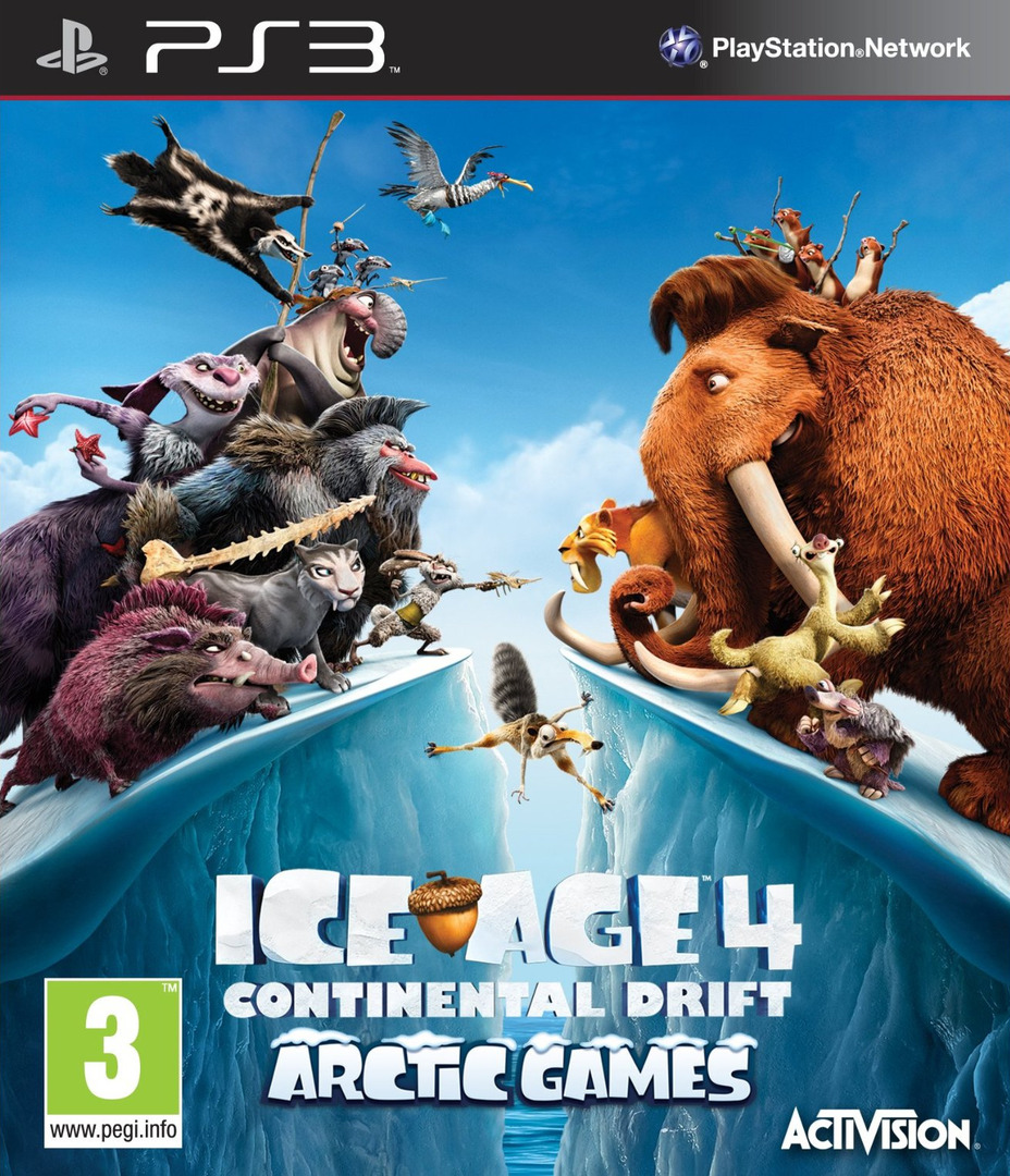 Ice Age 4: Continental Drift - Artic Games PS3 coverHQ (BLES01686)