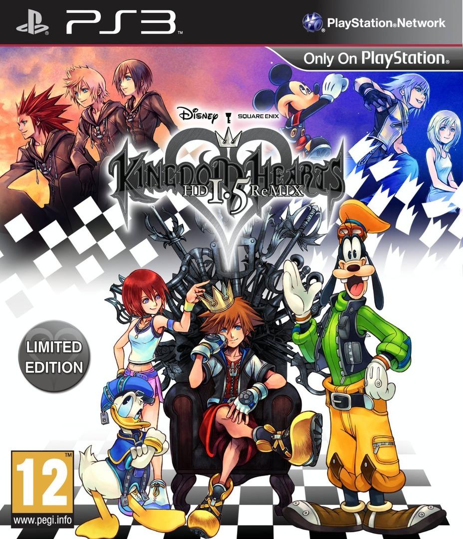 Kingdom Hearts HD 1.5 ReMIX PS3 coverHQ (BLES01897)