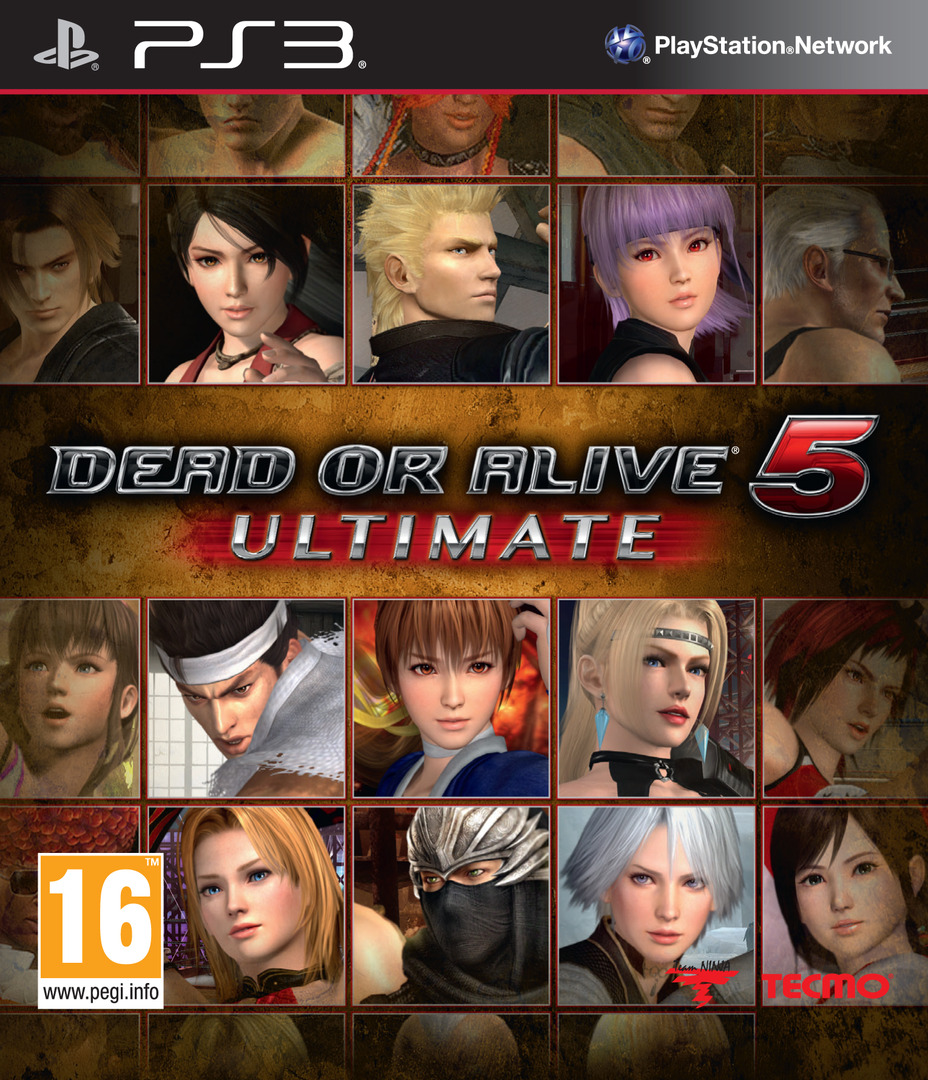 Dead or Alive 5 Ultimate PS3 coverHQ (BLES01907)