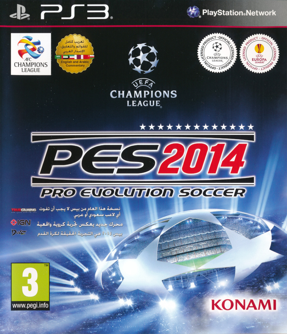 Pro Evolution Soccer 2014 PS3 coverHQ (BLES01935)