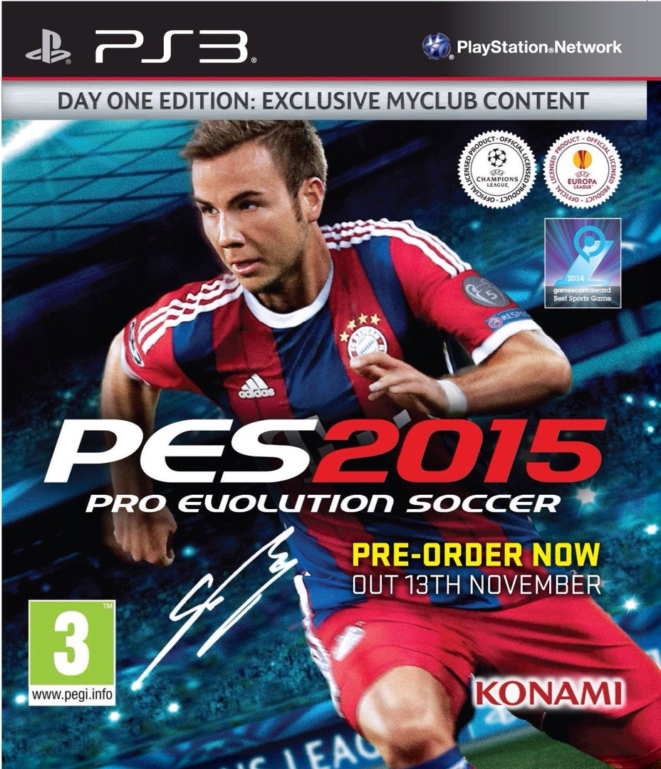 Pro Evolution Soccer 2015 PS3 coverHQ (BLES02087)