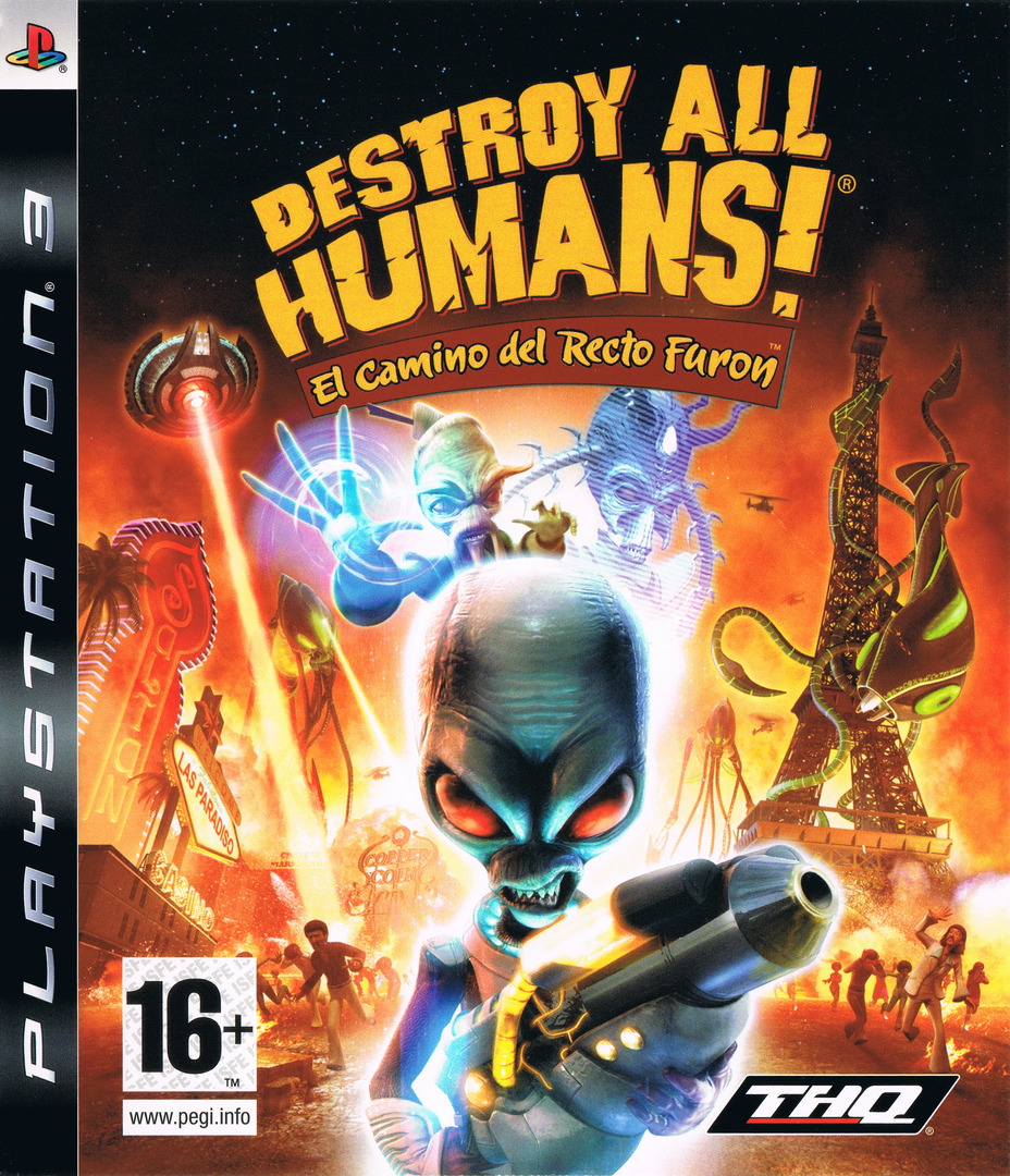 Destroy All Humans! El Camino del Recto Furon PS3 coverHQ (BLES00467)