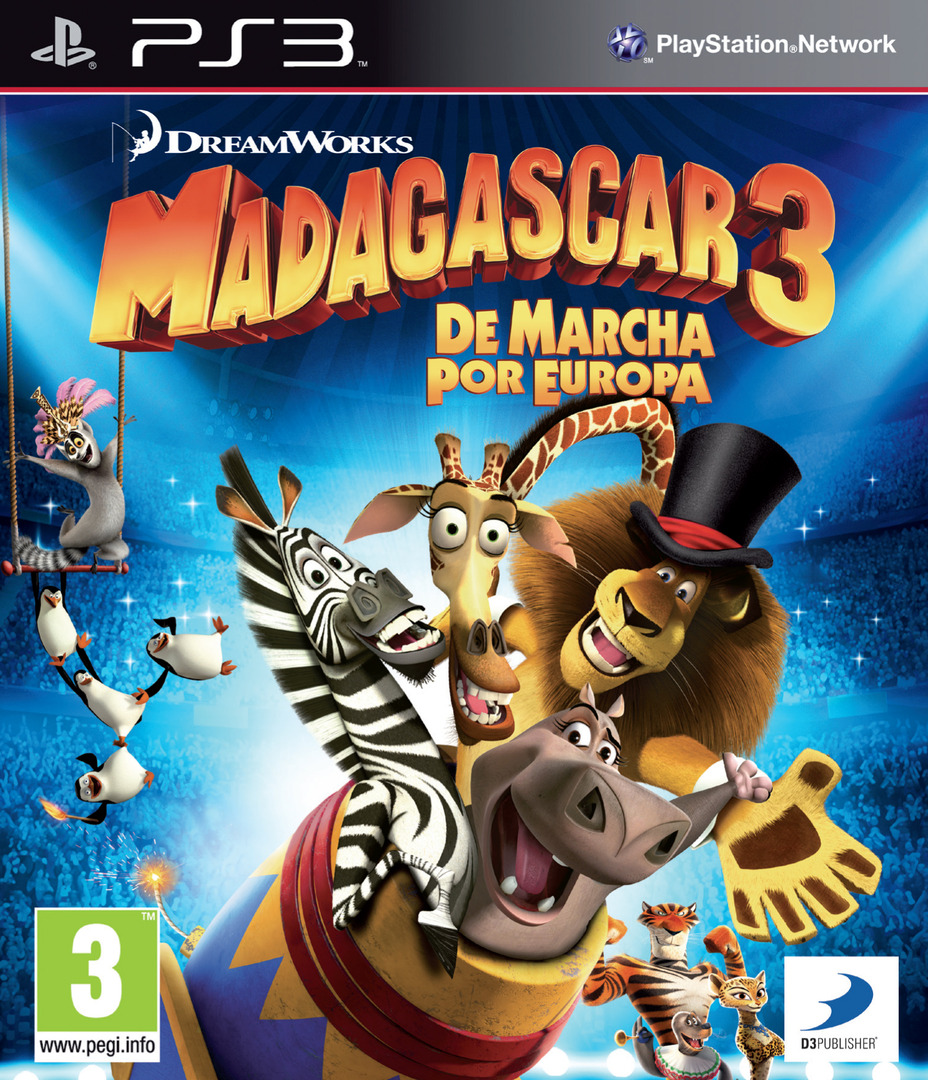 Madagascar 3: De Marcha por Europa PS3 coverHQ (BLES01624)