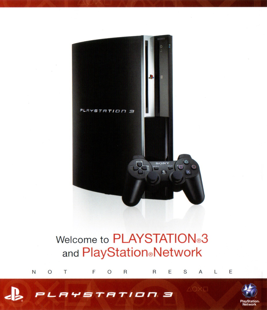 Welcome to PlayStation Network and PlayStation 3 160GB PS3 coverHQ (BCUS98195)