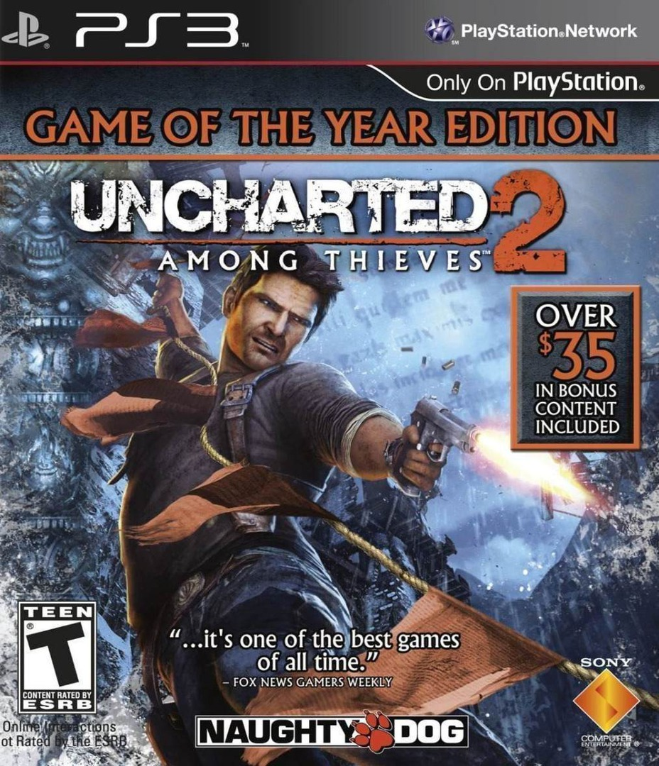 Uncharted 2: Among Thieves (Game of the Year Edition) PS3 coverHQ (BCUS98257)