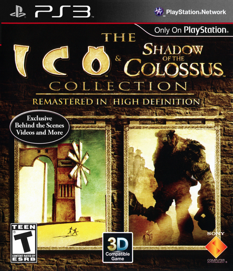 The ICO & Shadow of the Colossus Collection PS3 coverHQ (BCUS98259)