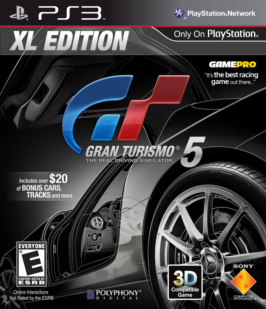 Gran Turismo 5 XL Edition PS3 coverHQ (BCUS98394)
