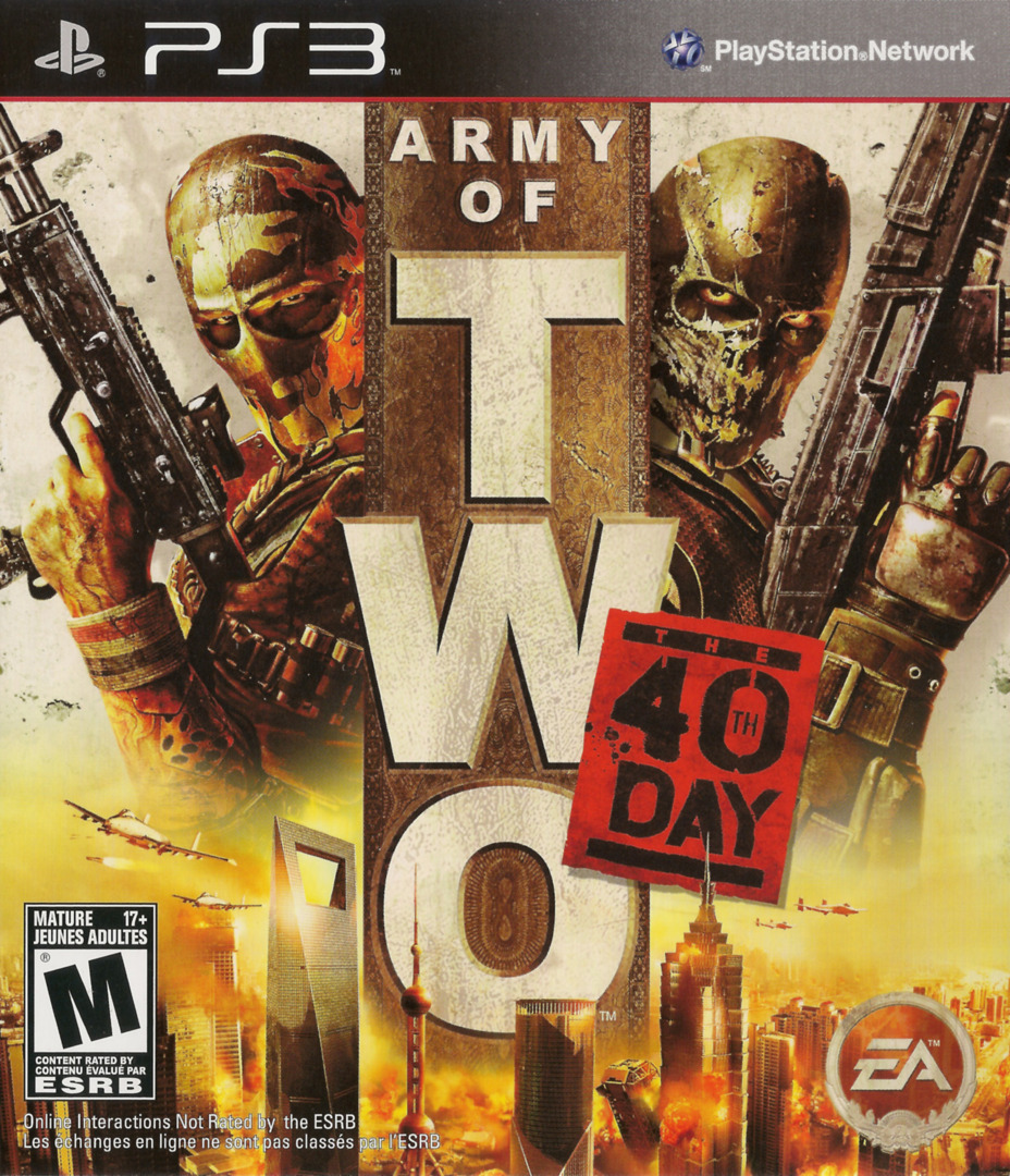 Army of Two: The 40th Day PS3 coverHQ (BLUS30408)