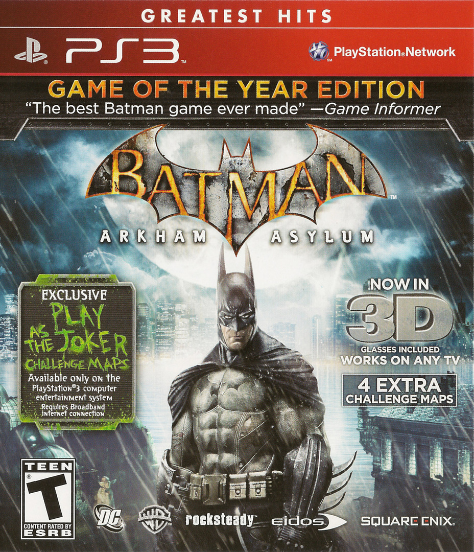 Batman: Arkham Asylum (Game of the Year Edition) PS3 coverHQ (BLUS30515)