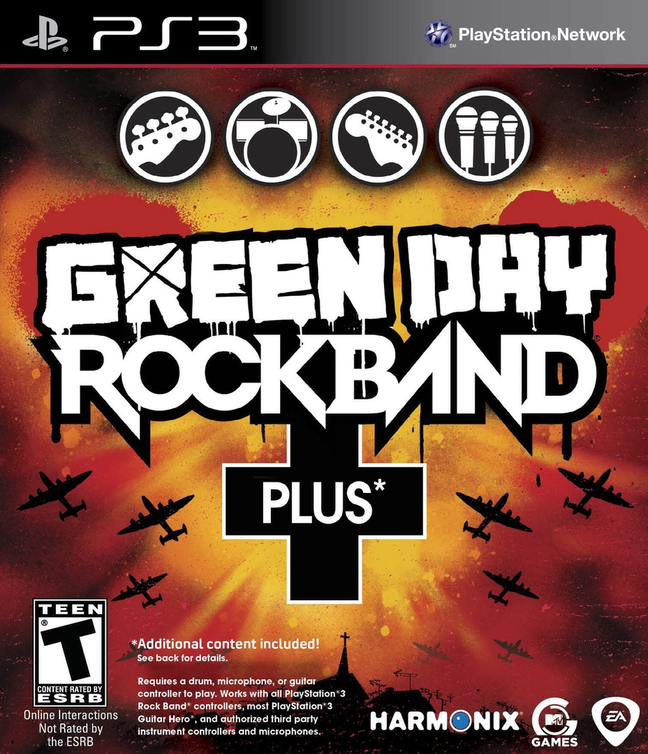 Green Day: Rock Band Plus PS3 coverHQ (BLUS30573)