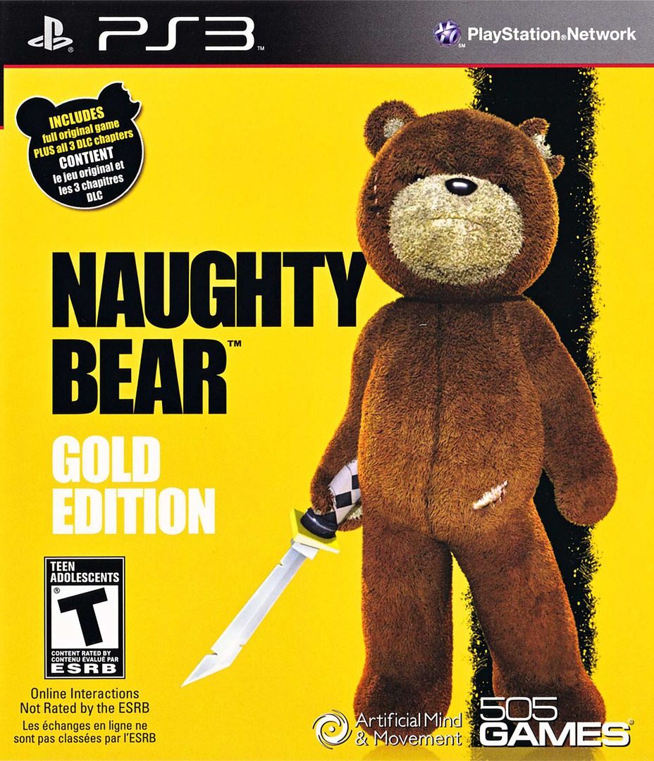 Naughty Bear Gold Edition PS3 coverHQ (BLUS30700)