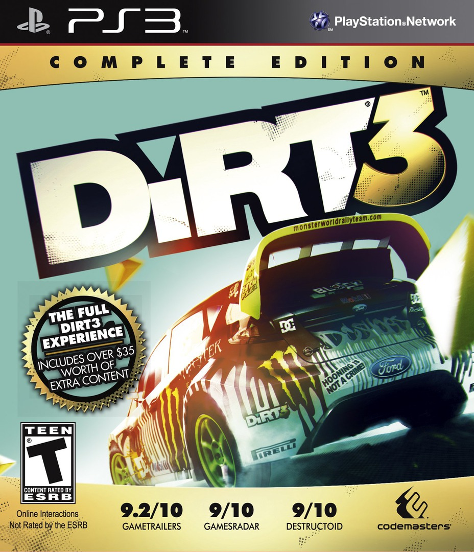 Colin McRae: DiRT 3 (Complete Edition) PS3 coverHQ (BLUS30975)