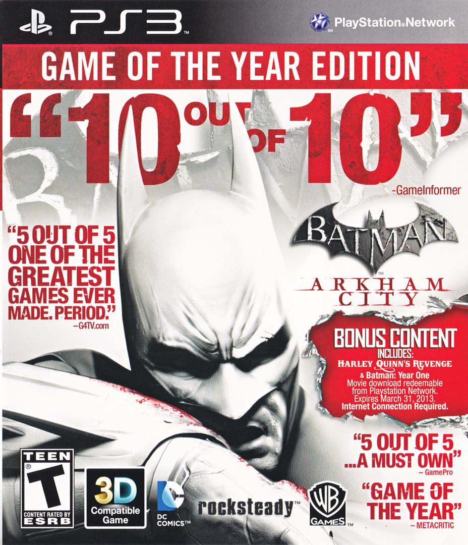 Batman: Arkham City (Game of the Year Edition) PS3 coverHQ (BLUS30978)
