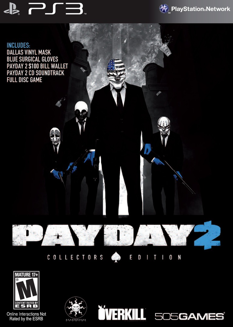 Payday 2 (Collector's Edition) PS3 coverHQ (BLUS31343)
