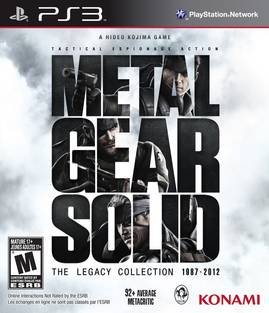 Metal Gear Solid: The Legacy Collection PS3 coverHQ (BLUS41033)