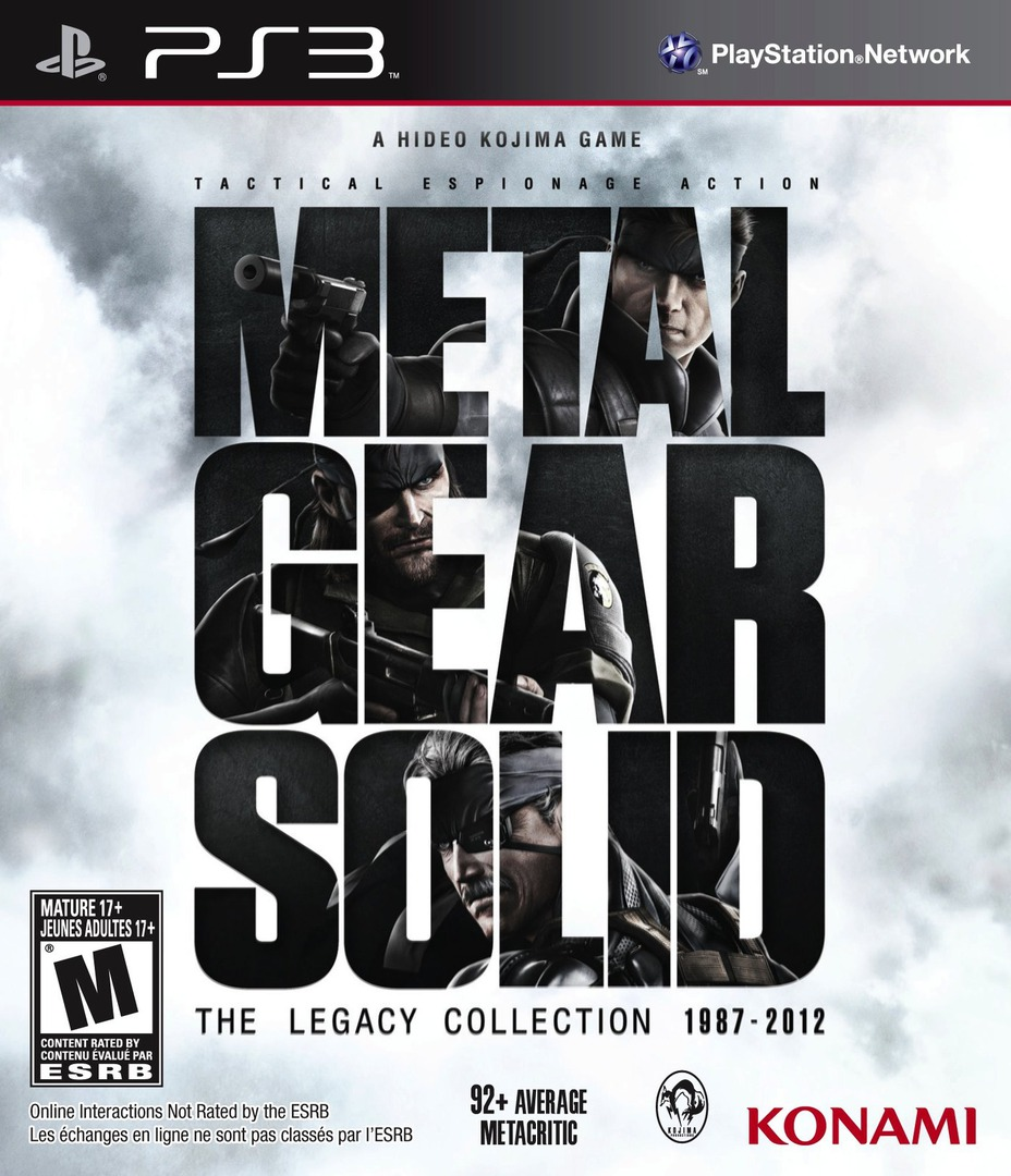 Metal Gear Solid: The Legacy Collection PS3 coverHQ (BLUS83009)