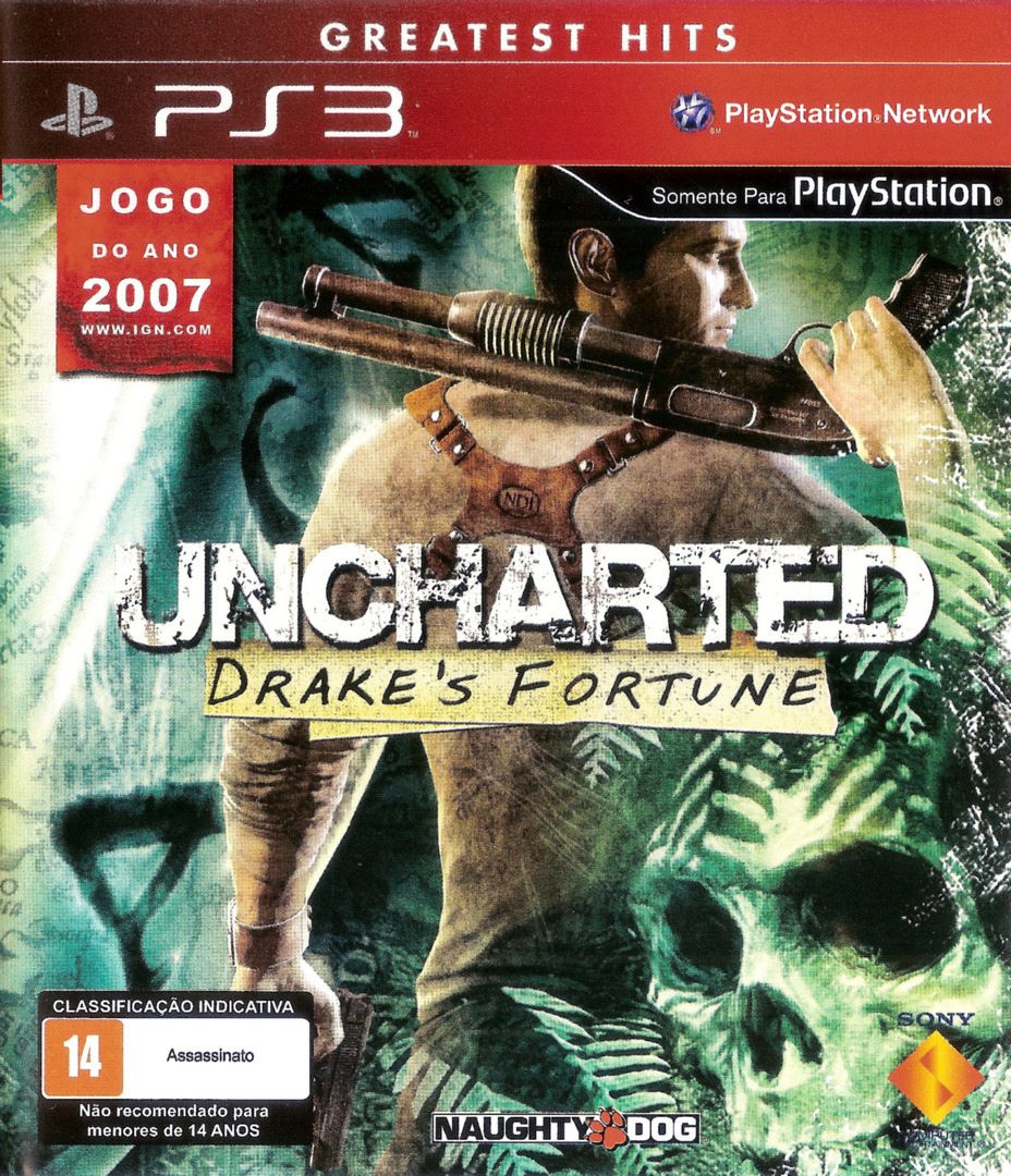 Uncharted: Drake's Fortune (Greatest Hits) PS3 coverHQ (BCUS90640)